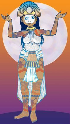 Mama Quilla is the Inca Goddess of the Moon, defender of women and keeper of time. (Heather Wilson, 2014)