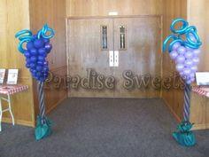 Balloon grape columns.