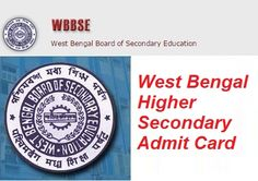 WB Higher Secondary Admit Card 2017