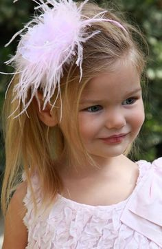 PLH Bows & Laces Feather Headband (Baby Girls & Toddler Girls) available at #Nordstrom