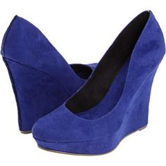 Michael Antonio Blue suede wedges, $64.95.