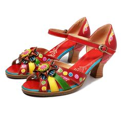 Spedizione Gratis Leather Heels, Pu Leather, Bohemian Sandals, Vintage Ladies, Ankle, Ethnic, Ebay, Shoes, Platform