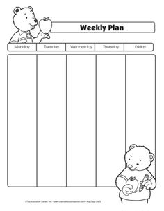 Weekly Planning Form, Lesson Plans - The Mailbox