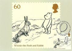Winnie the Pooh FDI FRANKED PHQ | Ming's Postcard House At Pooh Corner, Rabbit Run, Winnie The Pooh, Bunny, Character, Art, Art Background, Cute Bunny, Winnie The Pooh Ears