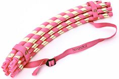 The Hoopnotica Travel Hula Hoop Combo kit makes it easy to enjoy a fun, low-impact workout in the comfort of your own home. The Travel Hula Hoop collapses into six segments that can be easily stored a