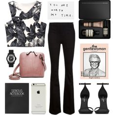 gentlewoman by jesicacecillia on Polyvore featuring Frame Denim, Yves Saint Laurent, Marc by Marc Jacobs, Aesop and Topshop