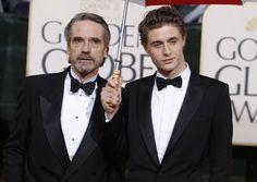 Jeremy Irons and his son Max Irons (currently starring in The White Queen -series).