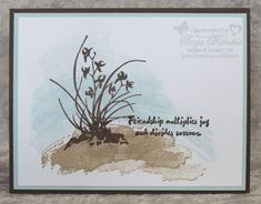 Work of Art Meets Artistically Asian in this simple yet elegant handmade card from Stamping Madly.  Visit website for details.