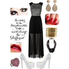 """In Order To Be Irreplaceable, One Must Always Be Different"" by shaelynn-1 on Polyvore"