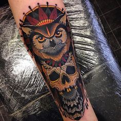 Neo Traditional Owl Tattoo | Neo Traditional Owl Tattoos tattoo owltattoo artist on instagram