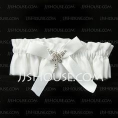 Garter - $6.99 - Butterfly Story Satin Wedding Garter (104019294) http://jjshouse.com/Butterfly-Story-Satin-Wedding-Garter-104019294-g19294