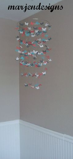 white butterfly mobile nursery mobile unique gift by marjendesigns, $45.00
