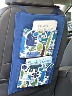 Car seat book holder-make one for Benjamin now-and make one for Bailey---she can use hers in a year or so when we forward face her.