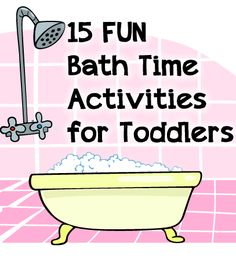15 Fun Bath Time Activities That Don't Include a Rubber Duck! #Kids #Bath #Toddlers #Play
