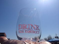 Drink the District custom govino wine glass