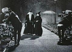 Plano y contraplano de Albus Dumbledore (Richard Harris) y Minerva McGonagall (Maggie Smith) siempre preocupados por el futuro del joven mago, en el rodaje de la saga Harry Potter.