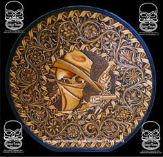 Winner of Maker's and Peoples Choice at The Art of the Cowboy Maker competition… Leather Carving, Leather Art, Custom Leather, Leather Design, Tooled Leather, Handmade Leather, Leather Keychain, Leather Pouch, Leather Purses