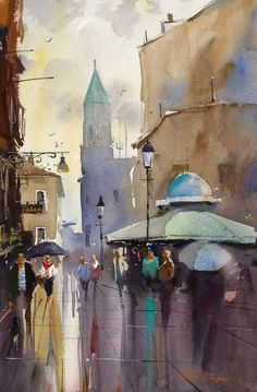 Artists' Edge 2013 Spring Workshop in Italy with Ron Stocke, Watercolor At A Glance Sponsored by Artists' Edge #watercolor jd