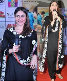 Kareena Kapoor Wear Beautiful Patiala Salwar Kameez New Fashion Suits  by Bollywood Designers-