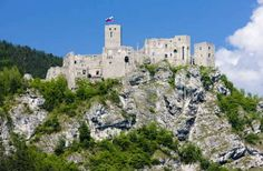 Once considered the safest fortress in the region, Strecno castle in Slovakia stands in ruins above the V?h River. Photo: Mary416