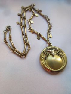 Art Nouveau Locket Necklace  Wedding Locket  by AndOnToWillow