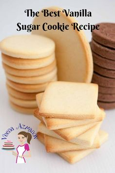 Vanilla Sugar Cookies are a favorite anytime treat whether you choose to decorate them or eat them just as is with a cup of tea. Based on my butter cookie recipe these are soft, crisp and buttery. They do not spread making them a great candidate for shaped and decorated custom cookies. #sugar #cookies #sugar-cookies #recipe #best #veenaazmnaov, veenaazmanov.com