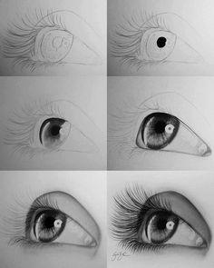 Step bye step eye drawing