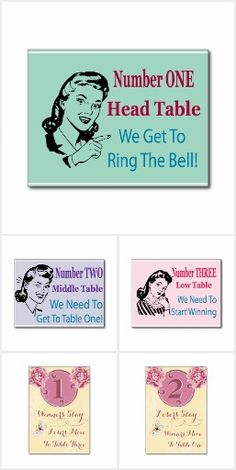 I've put together a collection of my Bunco table card designs with different Bunco themes. Cards are printed on good card stock.  Our group has an assortment of cards in our Bunco gear box.