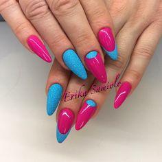 Ciclamino di passione unghie e L azzurro è r32 crystal con polvere effetto zucchero azzurra di brillbird
