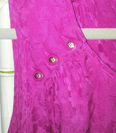 Hot Pink Top Blouse Marc by Marc Jacobs 100% Silk Size Medium #MarcbyMarcJacobs #Blouse #AllSOLD