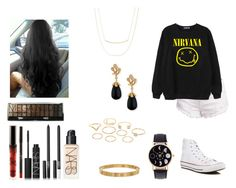 """""""Sem título #149"""" by kristal01-798 ❤ liked on Polyvore featuring Chicnova Fashion, Converse, Gorjana, NARS Cosmetics, Cartier, Charlotte Russe and Miseno"""