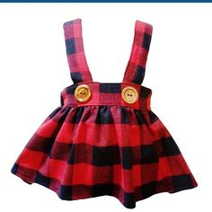 Buffalo plaid high waisted suspender skirt! Sizes 1/2 to 8. This is now listed in our shop. $29.