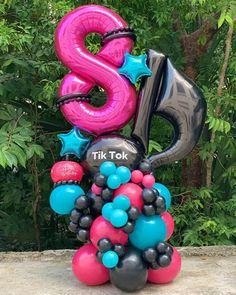 Balloon Gift, Balloon Garland, Birthday Balloon Decorations, Birthday Balloons, Dance Party Birthday, Pastel Balloons, Balloon Arrangements, Balloon Bouquet, Party Themes