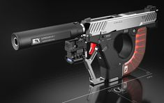 POTD: The AEROMECH APS-F1 Handgun System Concept -The Firearm Blog Zombie Weapons, Sci Fi Weapons, Weapon Concept Art, Fantasy Weapons, Weapons Guns, Guns And Ammo, Future Weapons, Custom Guns, Military Gear