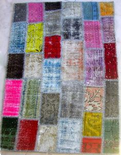 Pazar Aksam Vintage Patchwork Carpet. $585.00, via Etsy.