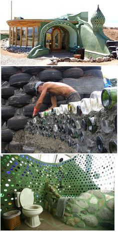 the Earthship is the epitome of sustainable design and construction. the Earthship is the epitome of sustainable design and construction. No part of sustainable living has been ignored in this ingenious building. Earthship Biotecture, Earthship Home, Earthship Design, Natural Building, Green Building, Building A House, Cob Building, Sustainable Design, Sustainable Living
