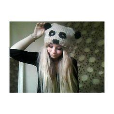 i found my panda hat i'm so happy found on Polyvore