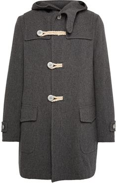 $1,150, Kolor Melton Wool Blend Duffle Coat. Sold by MR PORTER. Click for more info: https://lookastic.com/men/shop_items/370497/redirect