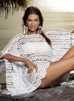 7c6b2011f0 Brigitte - Pily Q Swimwear coverup White Fashion, Beachwear, Swimwear 2014,  Swimwear Fashion