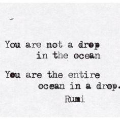 Un ocean dans une goutte...