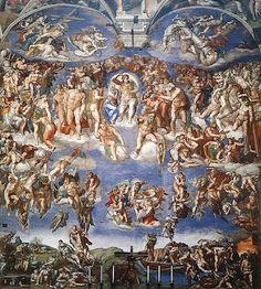 Michelangelo Sistine chapel wall. Magnificent!