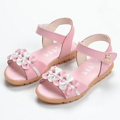 Cute Girl's Sandals With Bowknot and Velcro Design Cute Girl Shoes, Kid Shoes, Girls Shoes, Me Too Shoes, Baby Shoes, Baby Girl Sandals, Kids Sandals, Stella Shoes, Peru