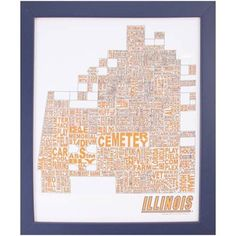 U of I campus map with words.  There is nothing I don't love about this.