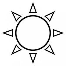 Image result for simple sun outline