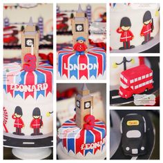London themed birthday cake