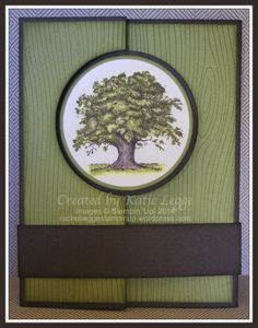 Hi there, Katie here – just a quick post to share a card which I made for my Dad's birthday on Friday: a flip card using the beautiful oak tree image from the Lovely As A Tree stamp set.