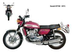 // hubby's new restoration project // 1972 SUZUKI GT750