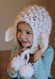 The pattern for this beautiful knitted lace lamb hood includes instructions for knitting sizes from a toddler size 3 through adult. This pattern is knitted with a crocheted edge. It would be a lovely choice as a gift.