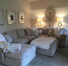 L♡VE this couch! #DIYHomeDecorLamp #FarmhouseLamp