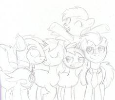 Harmony Crusaders: The Hooves Family .:sketch:. by schwarzekatze4 on deviantART